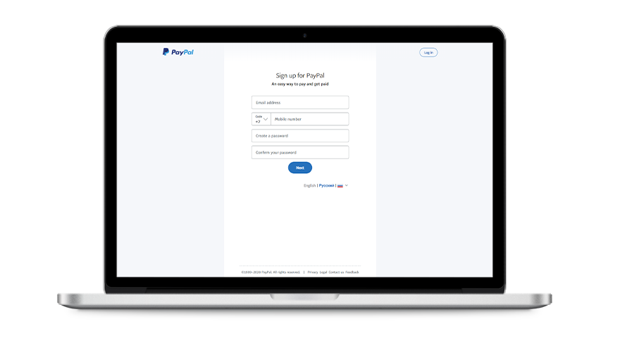 Registration with PayPal