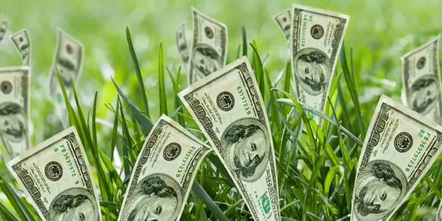 картинка фото долларов на удачу переехать какое-нибудь озеро